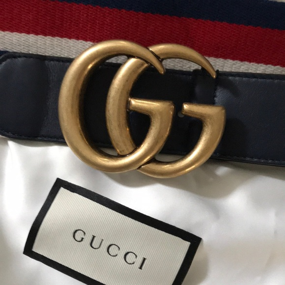 1749c262b Gucci Accessories | Authentic Nwt Sylvie Red Blue White Belt | Poshmark